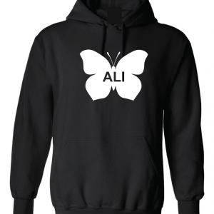 Ali -Butterfly - Muhammad Ali, Black, Hoodie