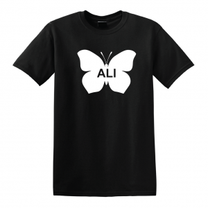 Ali -Butterfly - Muhammad Ali, Black, T-Shirt