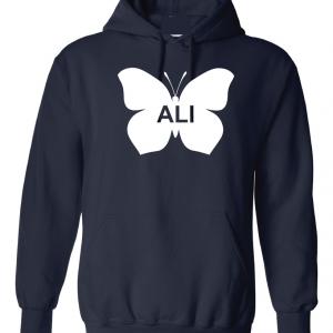 Ali -Butterfly - Muhammad Ali, Navy, Hoodie