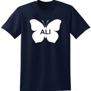 Ali -Butterfly - Muhammad Ali, Navy, T-Shirt