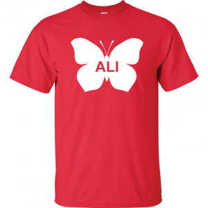 Ali -Butterfly - Muhammad Ali, Red, T-Shirt