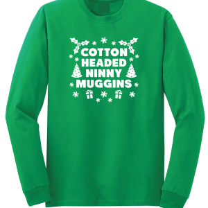 Cotton-Headed Ninny Muggins - Green, Long Sleeved