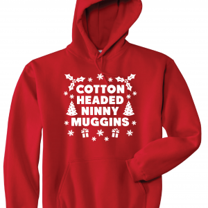 Cotton-Headed Ninny Muggins - Red, Hoodie
