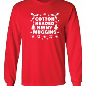 Cotton-Headed Ninny Muggins - Red, Long Sleeved