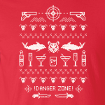 Danger Zone - Ugly Christmas Sweater, Hoodie, Sweatshirt, Long Sleeved, T-Shirt