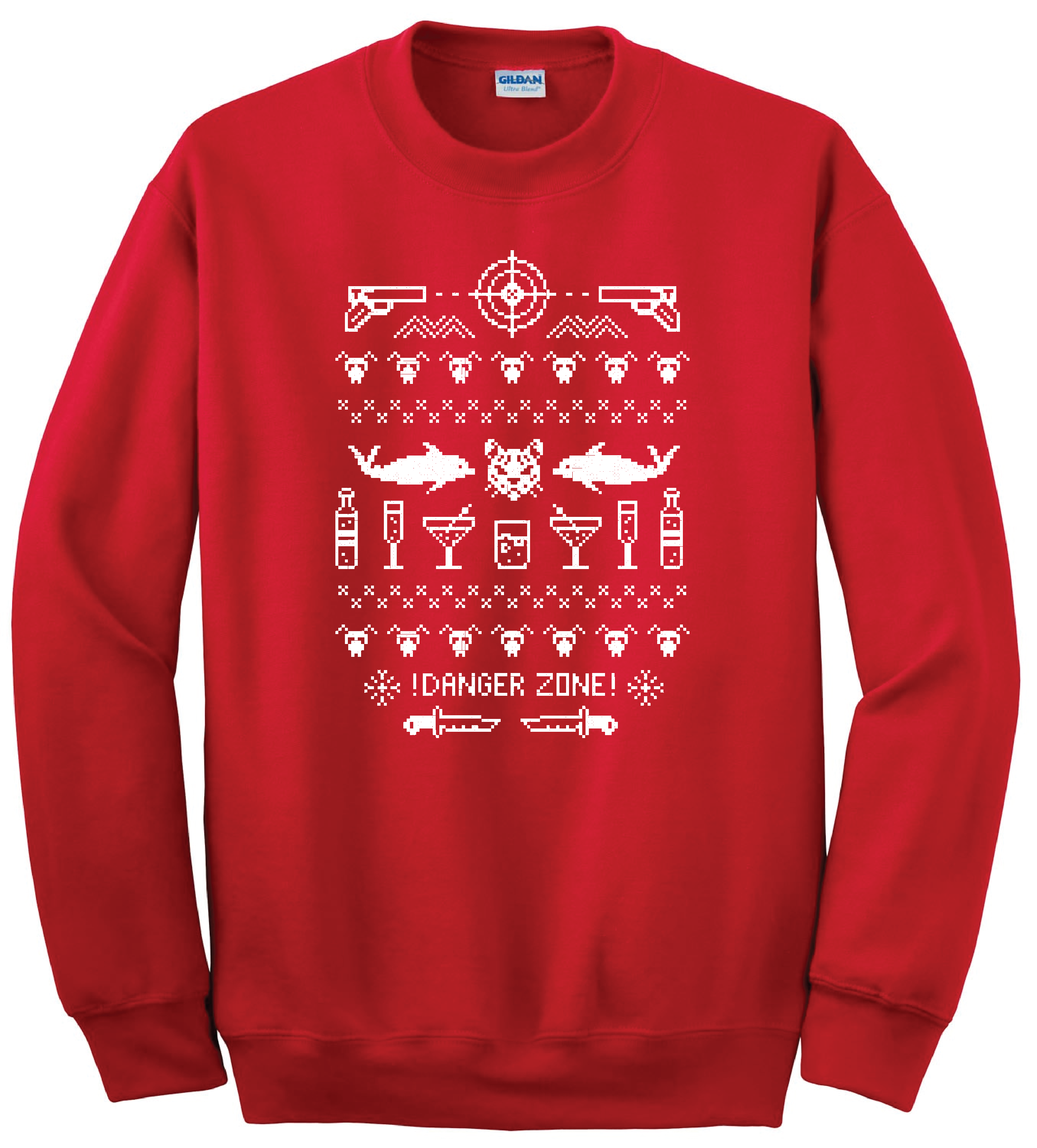 Danger Zone – Ugly Christmas Sweater |