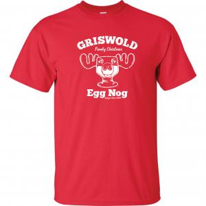 Griswold Egg Nog - Christmas, Red, T-Shirt