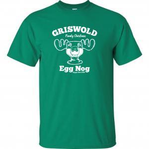 Griswold Egg Nog - Christmas, Green, T-Shirt