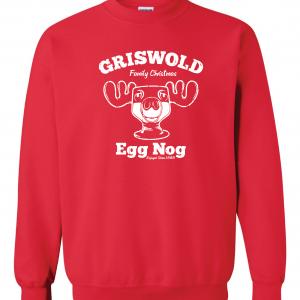 Griswold Egg Nog - Christmas, Red, Sweatshirt