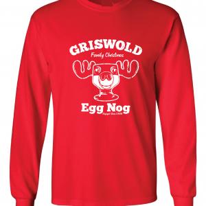 Griswold Egg Nog - Christmas, Red, Long Sleeved