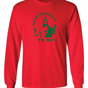 Happy Birthday to Me - Jesus - Christmas, Red, Long Sleeved