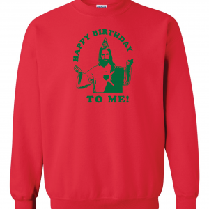 Happy Birthday to Me - Jesus - Christmas, Red, Sweatshirt