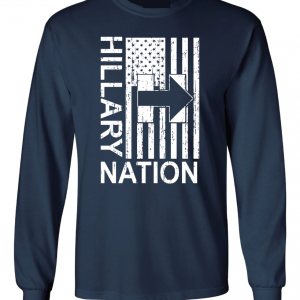 Hillary Nation 2016, Navy, Long Sleeved
