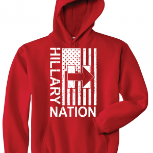 Hillary Nation 2016, Red, Hoodie