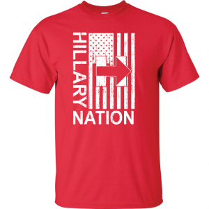 Hillary Nation 2016, Red, T-Shirt