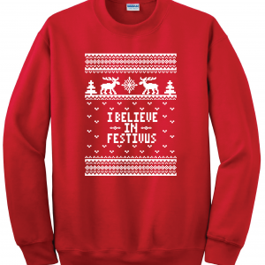 I Believe in Festivus - Seinfeld, Red, Sweatshirt