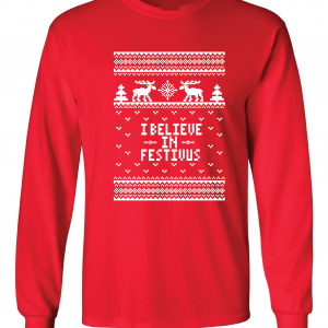 I Believe in Festivus - Seinfeld, Red, Long Sleeved