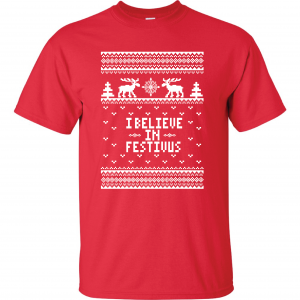 I Believe in Festivus - Seinfeld, Red, T-Shirt
