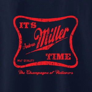 It's Andrew Miller Time - Cleveland Indians - MLB, Hoodie, Long Sleeved, T-Shirt