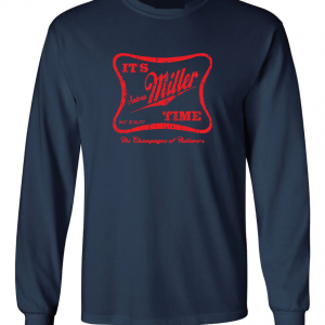 It's Andrew Miller Time - Cleveland Indians - MLB, Navy, Long Sleeved