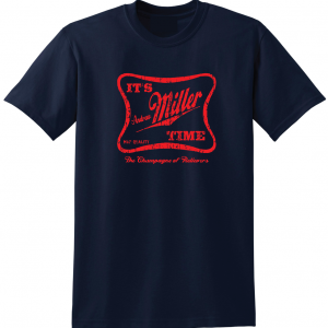 It's Andrew Miller Time - Cleveland Indians - MLB, Navy, T-Shirt