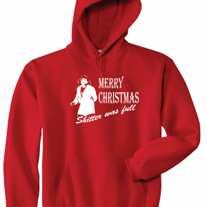 Merry Christmas Shitter Was Full, Red, Hoodie