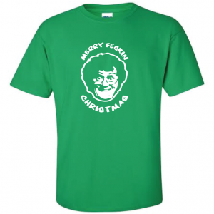 Merry Feckin' Christmas - Mrs Brown, Green, T-Shirt