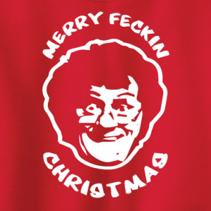 Merry Feckin' Christmas - Mrs Brown, Hoodie, Sweatshirt, Long Sleeved, T-Shirt