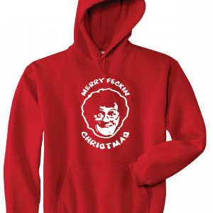 Merry Feckin' Christmas - Mrs Brown, Red, Hoodie