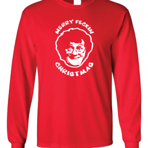 Merry Feckin' Christmas - Mrs Brown, Red, Long Sleeved