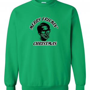 Merry Frickin' Christmas - Clark Griswold - Vacation, Green, Sweatshirt