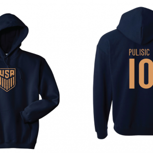Pulisic 10 - Soccer - Christian Pulisic, Navy/Gold, Hoodie