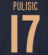 USA Men's Soccer National Team - Pulisic 17, Hoodie, Long-Sleeved, T-Shirt