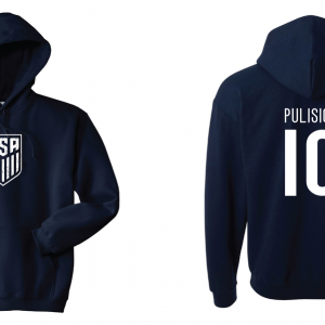 Pulisic 10 - Soccer - Christian Pulisic, Navy/White, Hoodie
