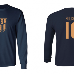 Pulisic 10 - Soccer - Christian Pulisic, Navy/Gold, Long Sleeved