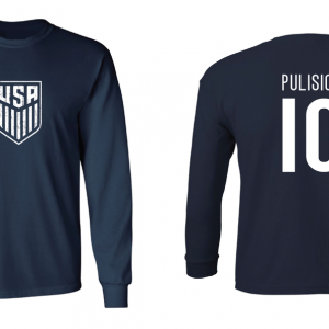 Pulisic 10 - Soccer - Christian Pulisic, Navy/White, Long Sleeved