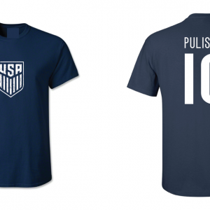 Pulisic 10 - Soccer - Christian Pulisic, Navy/White, T-Shirt