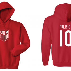 Pulisic 10 - Soccer - Christian Pulisic, Red/White, Hoodie