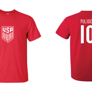 Pulisic 10 - Soccer - Christian Pulisic, Red/White, T-Shirt