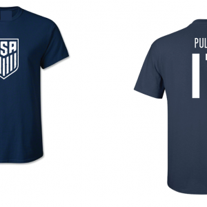 USA Men's Soccer National Team - Pulisic 17, Navy/White, T-Shirt