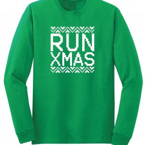 Run Xmas, Green, Long Sleeved