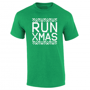 Run Xmas, Green, T-Shirt