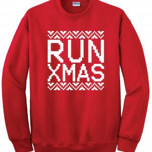 Run Xmas, Red, Sweatshirt