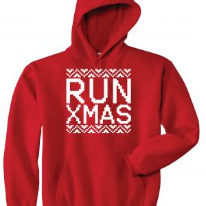 Run Xmas, Red, Hoodie