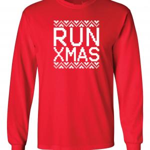 Run Xmas, Red, Long Sleeved