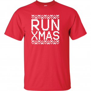 Run Xmas, Red, T-Shirt
