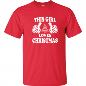 This Girl Loves Christmas, Red, T-Shirt
