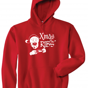 Xmas Is Ribs - Christmas - Santa Claus, Red, Hoodie