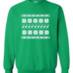 Christmas Knitting Sweater - Ugly, Green, Sweater