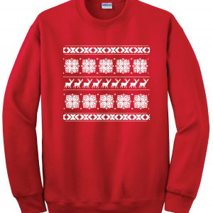 Christmas Knitting Sweater - Ugly, Red, Sweater